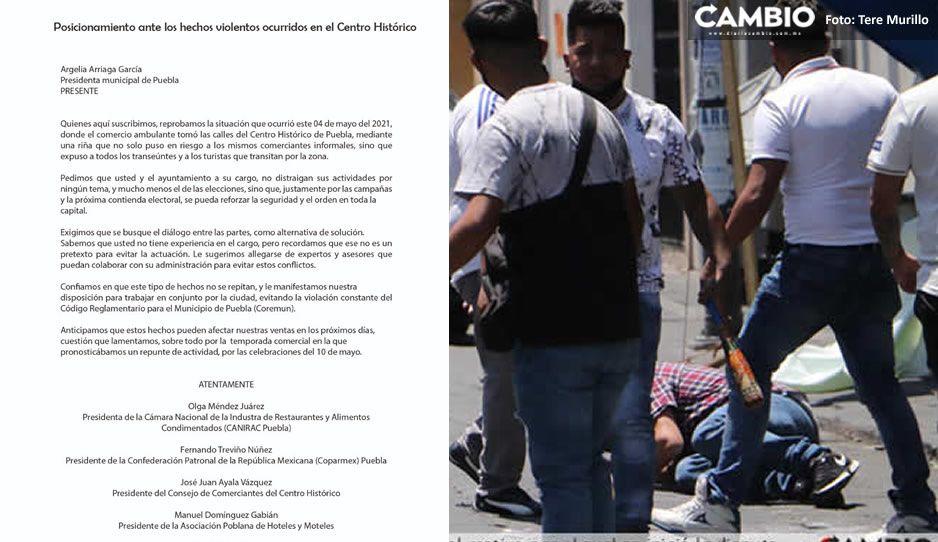Revientan comerciantes del Centro Histórico vs Claudia y su gobierno: fueron omisos en súper trifulca de ambulantes