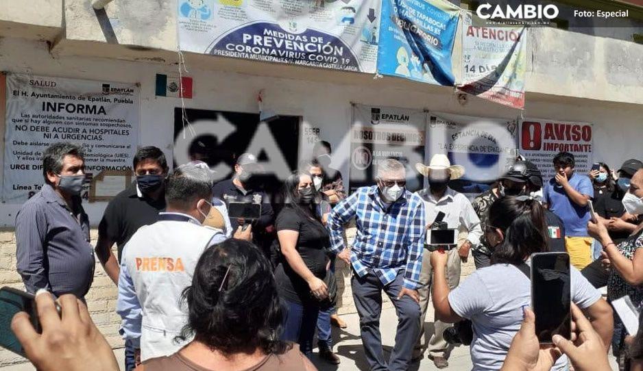 Comerciantes de Epatlán se manifiestan ante restricciones por la pandemia