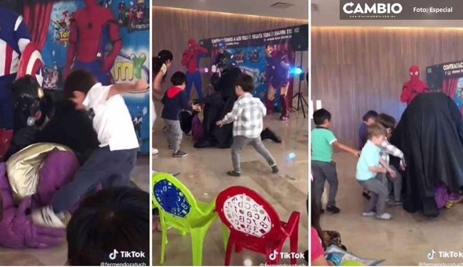 VIDEO: Niño ataca a botarga de Thanos, se vuelve viral y desata divertidos memes
