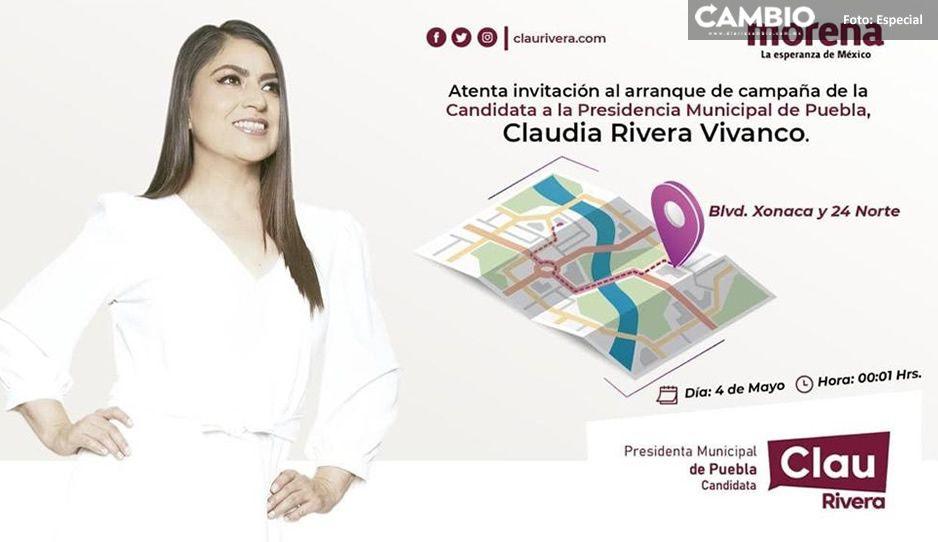 Claudia prepara arranque de su campaña sin que IEE avale su candidatura ¡esta es la invitación!