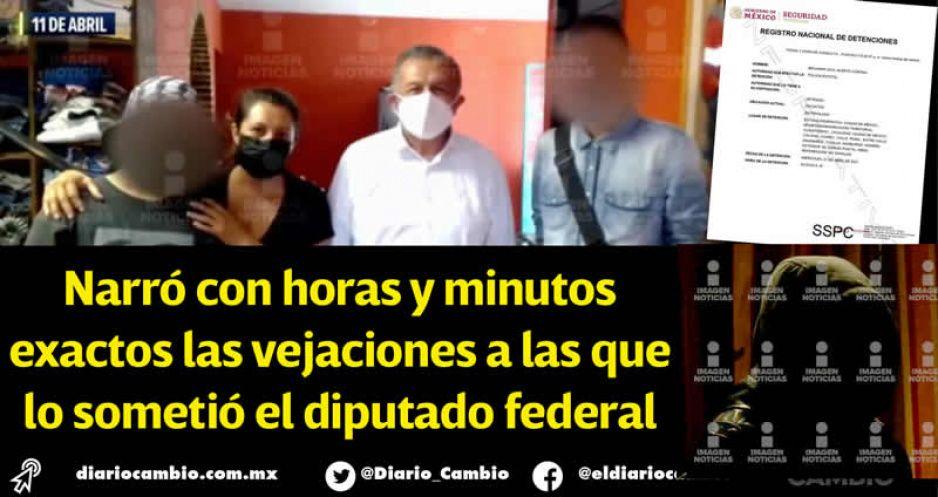 Con cronómetro en mano, menor detalla abuso sexual del diputado Saúl Huerta (FOTOS Y VIDEOS)