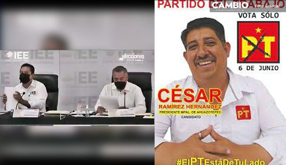 IEE confirma el triunfo de Cesar Ramírez del PT como alcalde de Ahuazotepec (VIDEO)