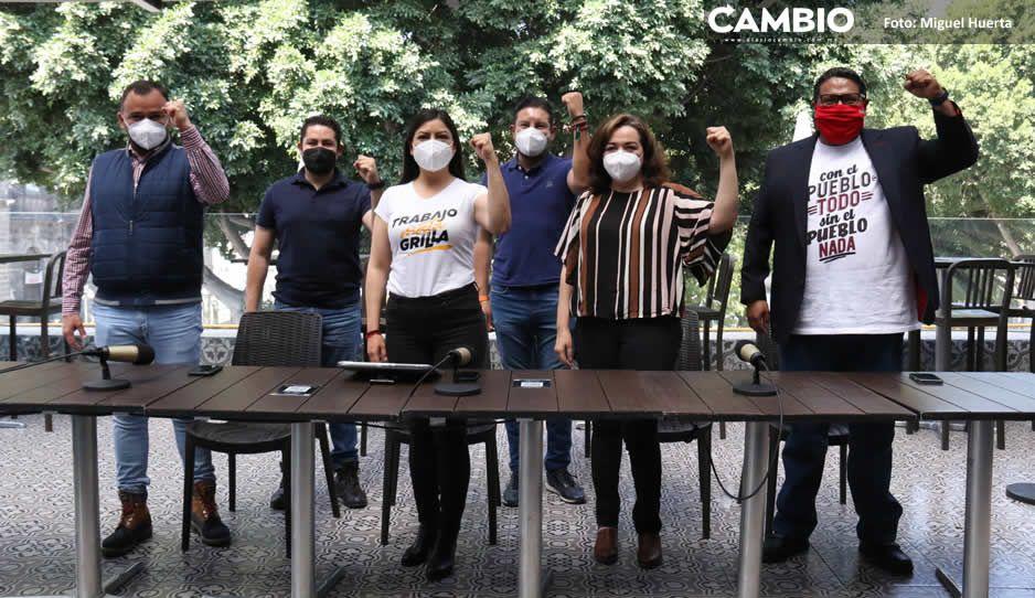 Liza, René y Leobardo dejan gabinete de Claudia Rivera; buscan diputación (FOTOS Y VIDEO)