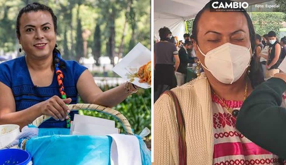 """""""Ni duele"""" así se vacunó Lady Tacos de Canasta contra Covid"""