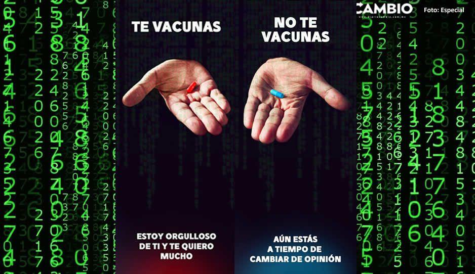 ¡Al estilo Matrix! El Bronco hace campaña de vacunación COVID con píldora roja y azul