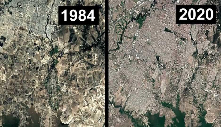 Con FOTOS satelitales, Google muestra la transformación de Puebla en 36 años