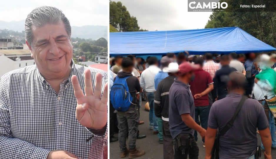Pobladores de Huauchinango hartos de Ecoloco Vargas bloquean la México-Tuxpan (FOTOS)