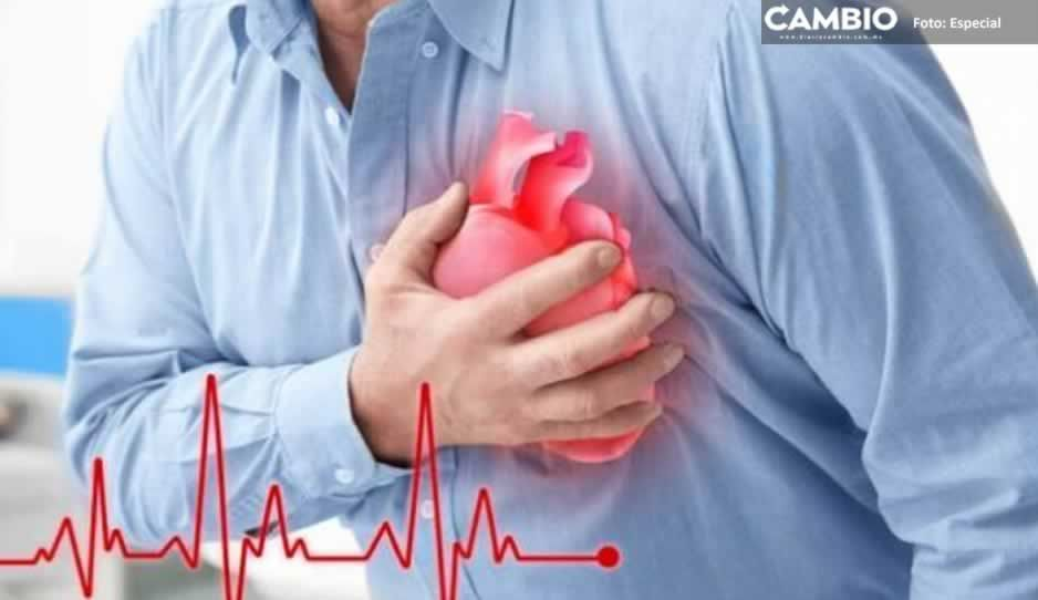 Mueren más poblanos por enfermedades del corazón y diabetes que por COVID