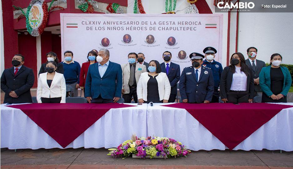 Conmemoran en Cuautlancingo, 174 años de la gesta heroica de los Niños Héroes