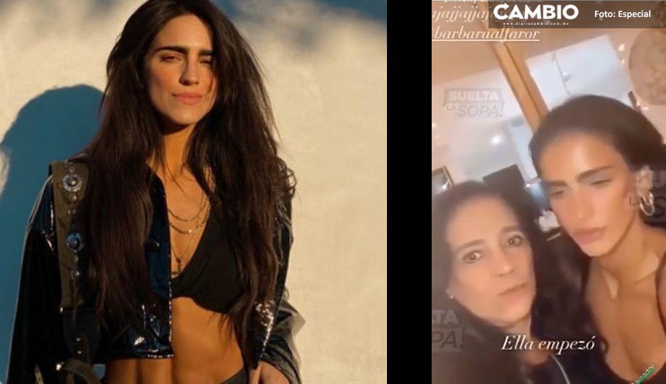 ¡Pasada de lanza! Bárbara de Regil le propina tremendo cabezazo a su mamá (VIDEO)