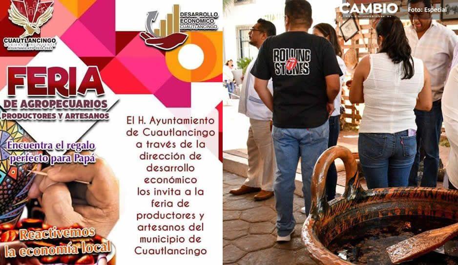 Cuautlancingo realizará nueva feria de artesanos y productores el próximo 20 y 21 de junio