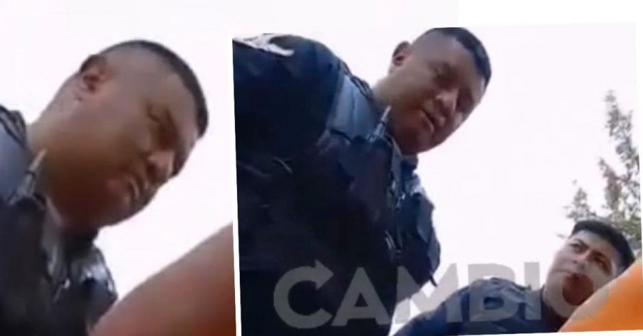 VIDEO: Policías estatales agreden a jovencita de la BUAP y le rompen su tablet