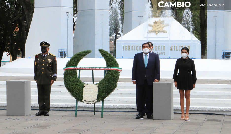 Barbosa presidió la ceremonia del 174 Aniversario de la Gesta Heroica de los Niños Héroes de Chapultepec (FOTOS Y VIDEO)