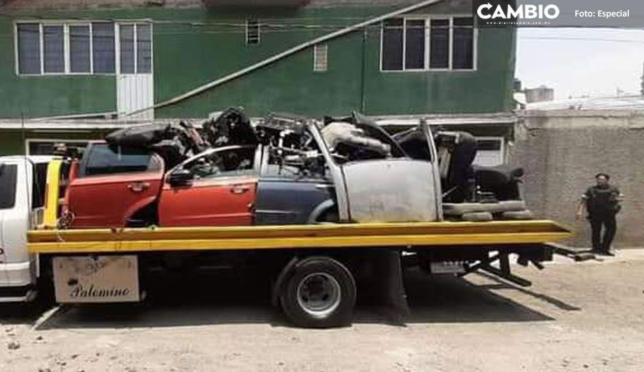 ¡Fuerte movilización! Catean inmueble donde almacenaban autopartes robadas en Tepanco de López