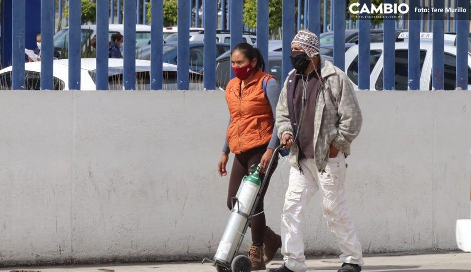 Siguen aumentando los ingresos de personas con problemas respiratorios en el Hospital General de Cholula (FOTO)