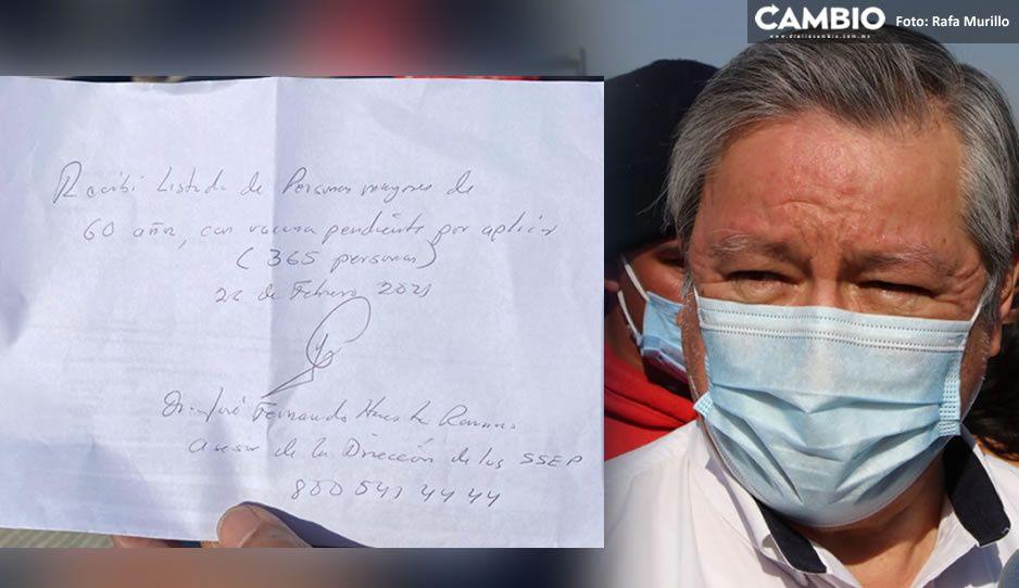 Prometen 350 vacunas AntiCovid a abuelitos rebeldes del CESSA; pero no saben cuándo