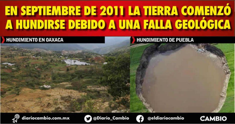 ¡Cuidado Juan C. Bonilla! Socavón de Oaxaca duró 4 años y desplazó a toda una comunidad (FOTOS)