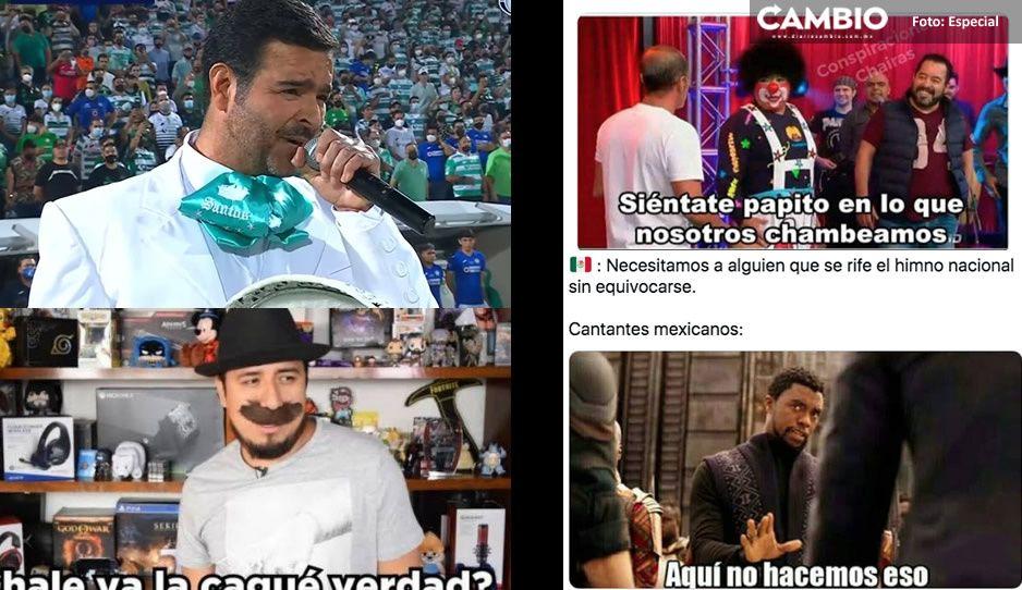 Pablo Montero se equivoca en Himno Nacional y usuarios lo destrozan con divertidos MEMES