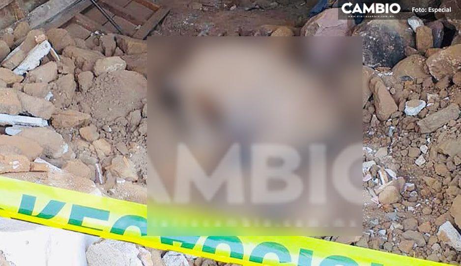 Albañil muere aplastado por barda en construcción en Chiautla de Tapia