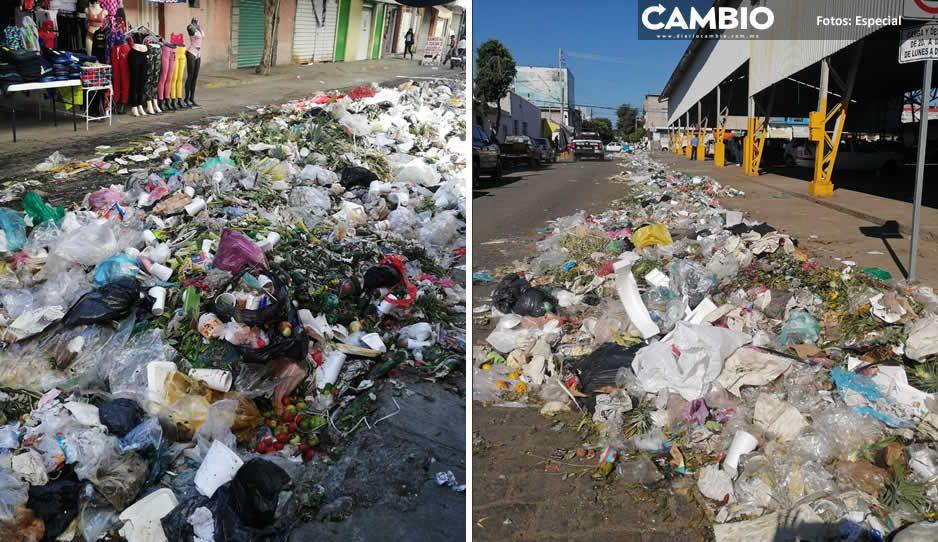 Tehuacán suma 72 horas bajo toneladas de basura (VIDEO)