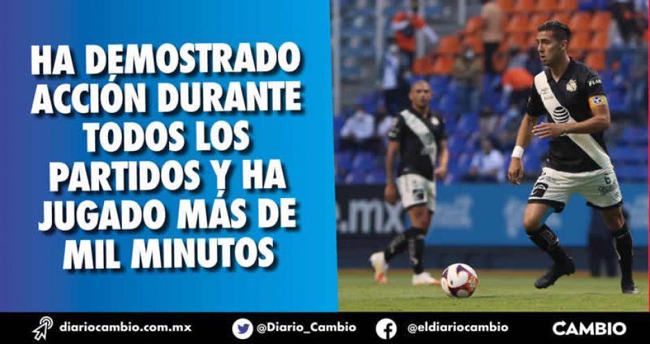 Capitán del Club Puebla es el único que ha disputado las 12 jornadas