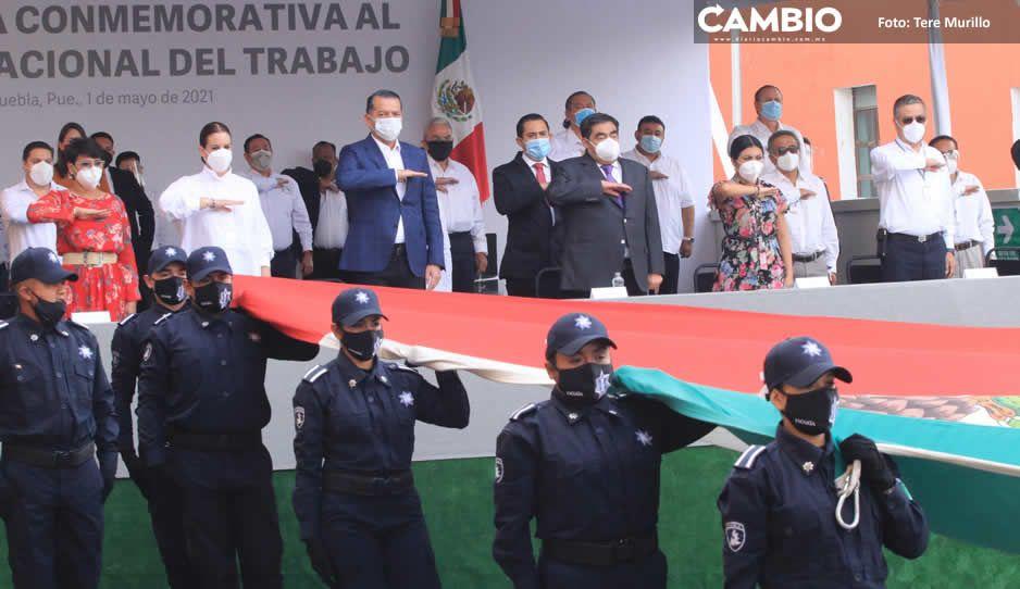 Encabeza Miguel Barbosa ceremonia por Día del Trabajo; sobrevivieron 79 % de negocios en 2020 (FOTOS Y VIDEO)