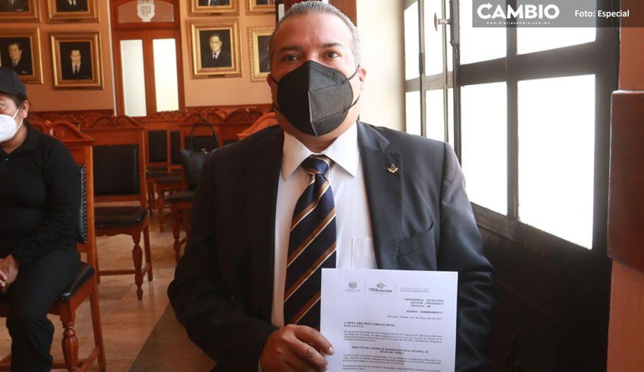 ¡0 y van 6! Toma protesta Abelardo Camacho como director del Cereso de Tehuacán