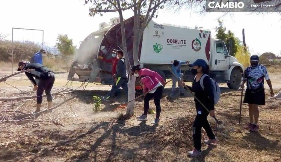 Deportistas realizan una jornada de limpieza en el parque El Riego en Tehuacán (FOTOS)