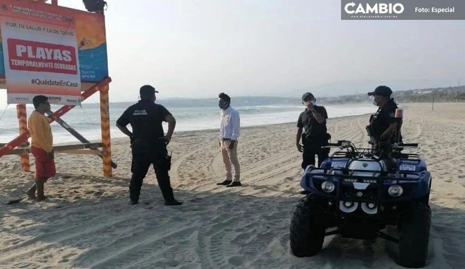 ¡Adiós vacaciones de verano! Cierran playas de Puerto Escondido, Oaxaca por tercera olaCovid