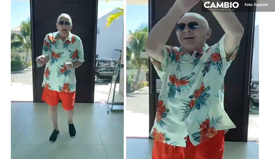 VIDEO: Anthony Hopkins se hace viral por bailar merengue