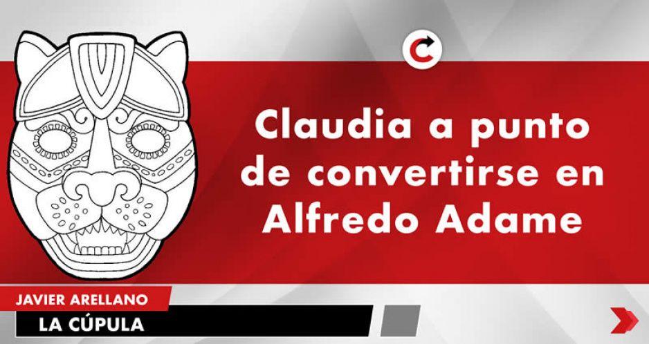 Claudia a punto de convertirse en Alfredo Adame