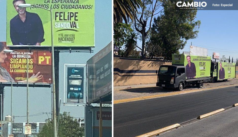 Arranque anticipado de campaña de Felipe Sandoval en San Andrés... se le fue el avión