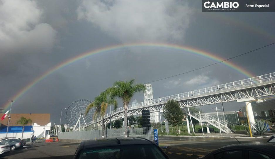 El increíble arcoíris perfecto que se vio ayer en Puebla (VIDEO y FOTOS)
