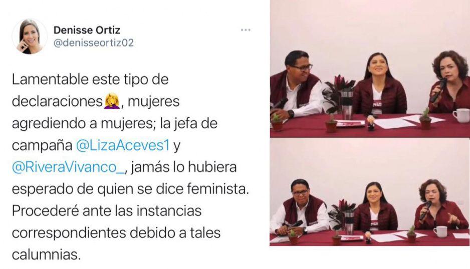 Denisse Ortiz denunciará a Liza y Claudia por la infamia de que anda con el gobernador
