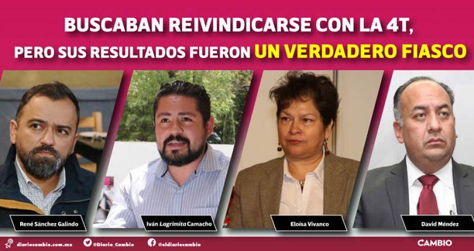 Sánchez Galindo, Iván Lagrimita, Eloísa Vivanco y David Méndez otra vez vuelven a morder el polvo