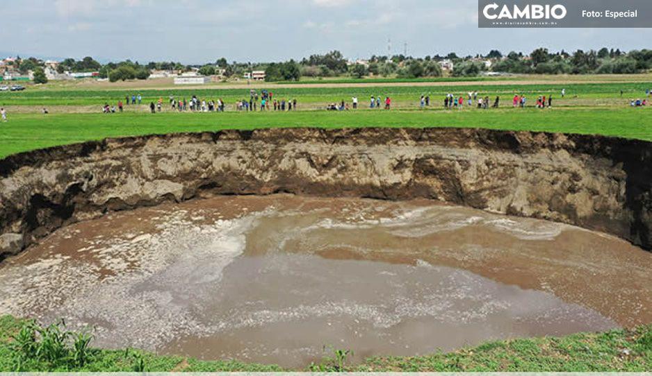 Misterio en el socavón: el agua 'desaparece' entre las 3 y 4 de lamadrugada