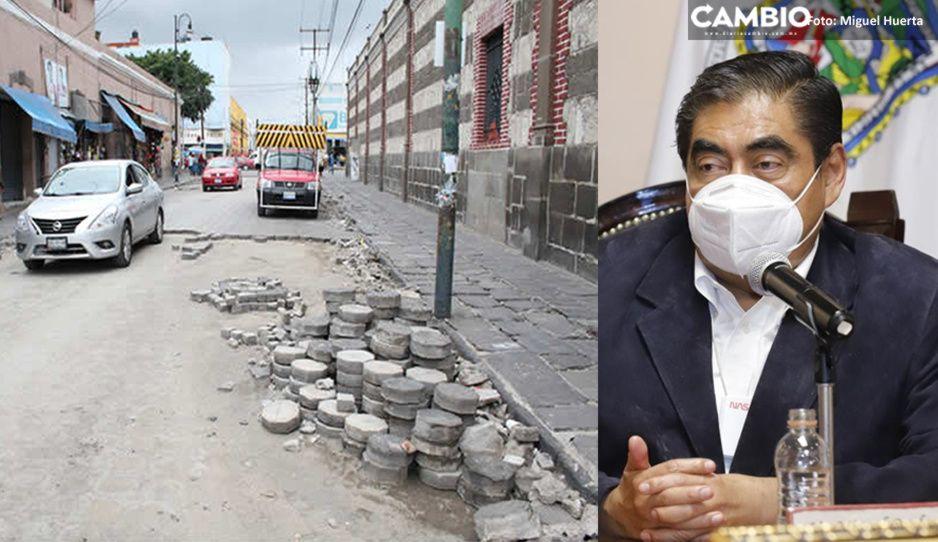 Gobierno de Claudia puede rehabilitar calles del Centro aún con sellos de clausura: Barbosa