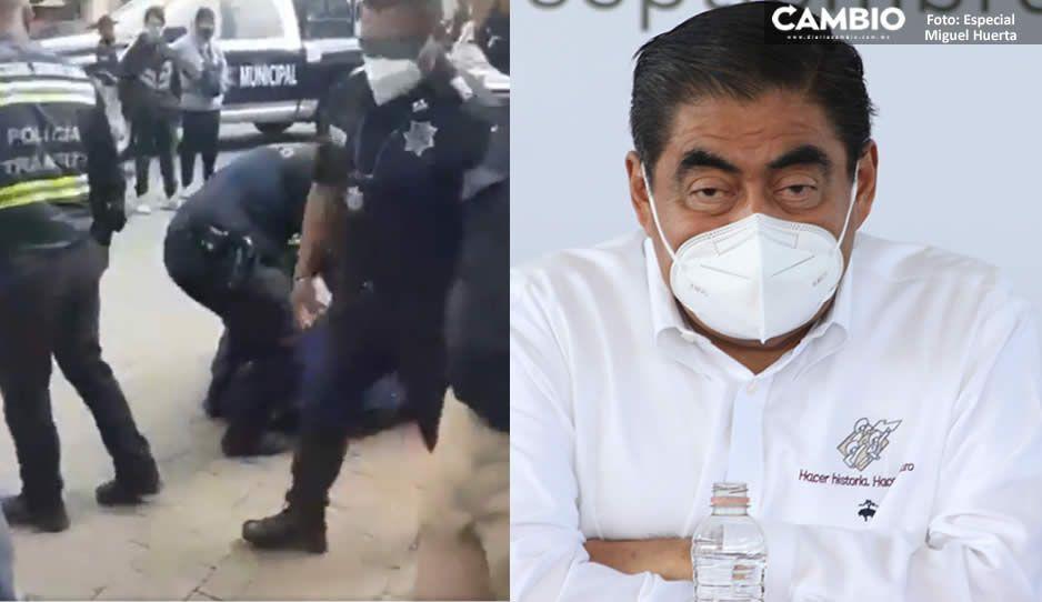 FGE debe investigar el abuso de los policías que golpearon a repartidor en Sonata: Barbosa