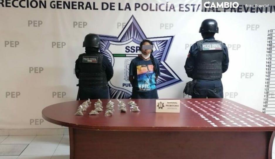 Cae La Chela en la Romero Vargas con 120 dosis de cristal y 23 de marihuana