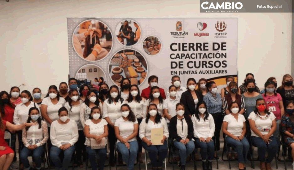 Instituto Municipal de la mujer clausura cursos de capacitación en juntas auxiliares en Teziutlán