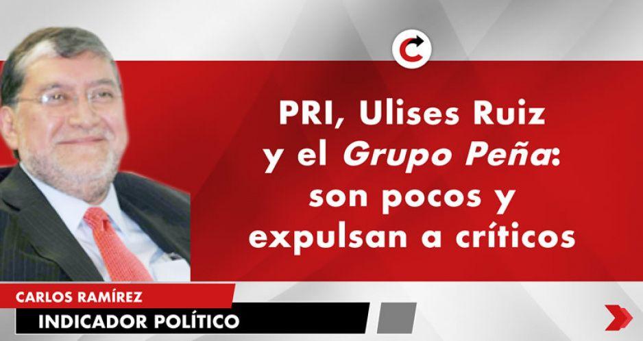 PRI, Ulises Ruiz y el Grupo Peña: son pocos y expulsan a críticos