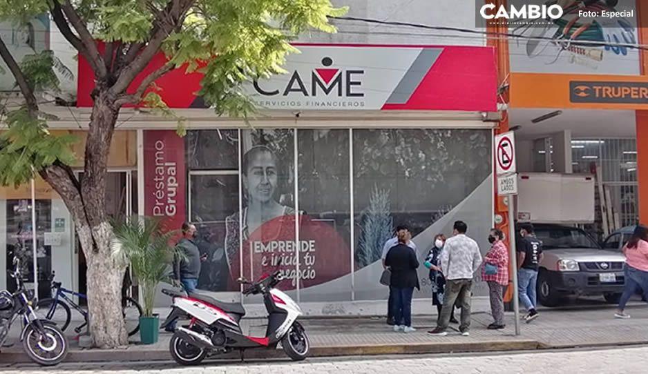 Financiera CAME defrauda a ciudadanos de Tehuacán; les niegan sus ahorros