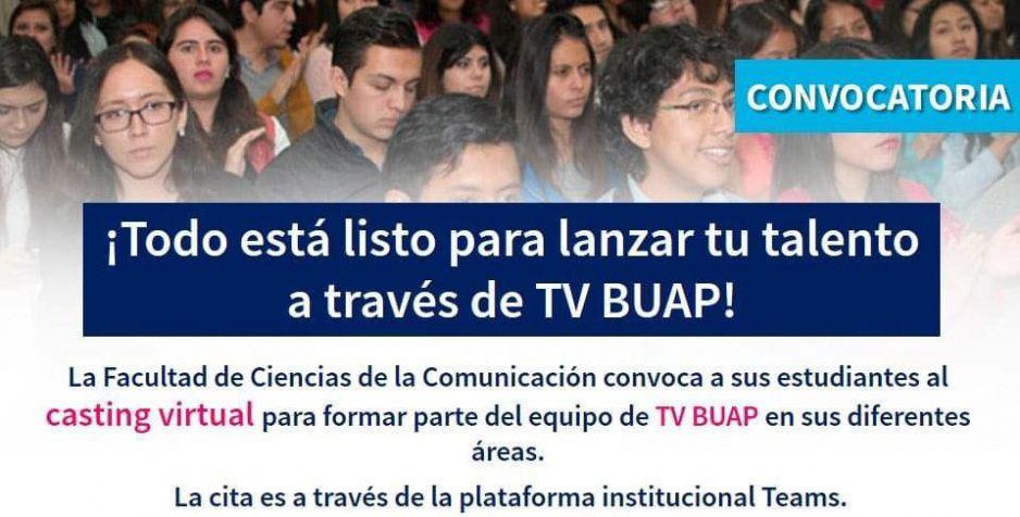 BUAP convoca a alumnos de Comunicación a casting para televisión