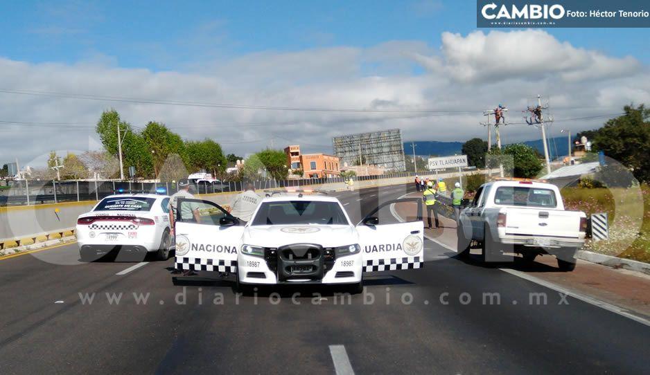 ¡Toma tus precauciones! Por trabajos de CFE cierran la autopista México-Puebla (VIDEO)