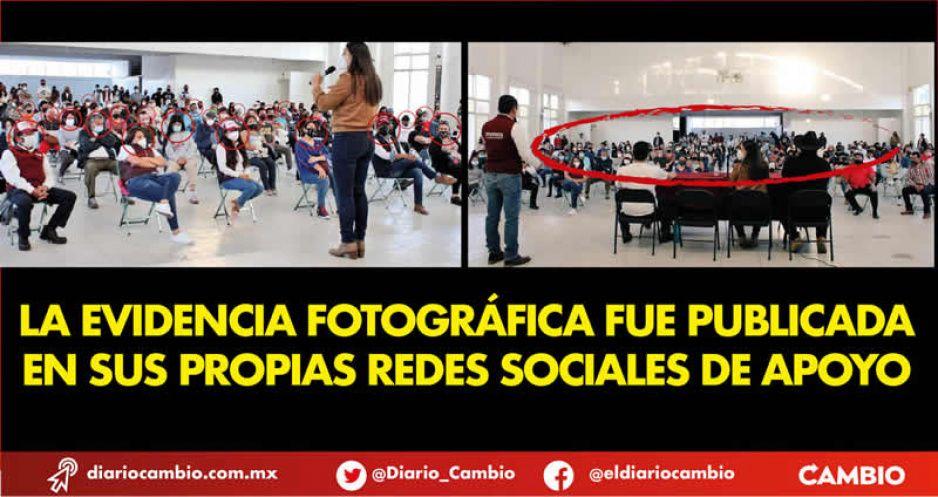 Comete Claudia actos anticipados de campaña, viola el decreto COVID y la convocatoria de Morena en un solo acto (FOTOS Y VIDEO)