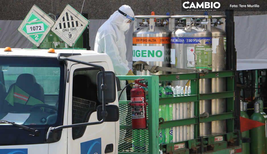 Se agotan los tanques de oxígeno en Puebla: ni Praxair ni Infra tienen
