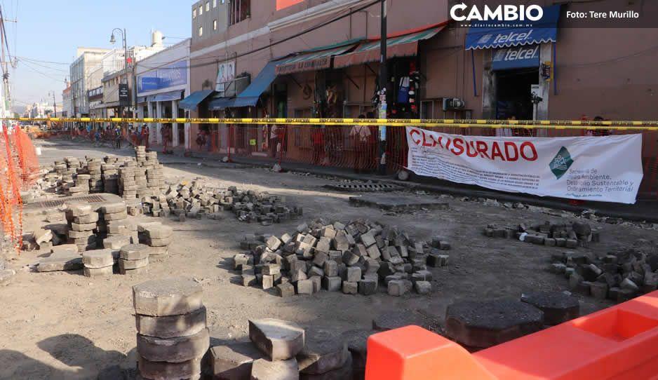 Gobierno de Claudia justifica que no ha rehabilitado calles del centro por clausura (VIDEO)