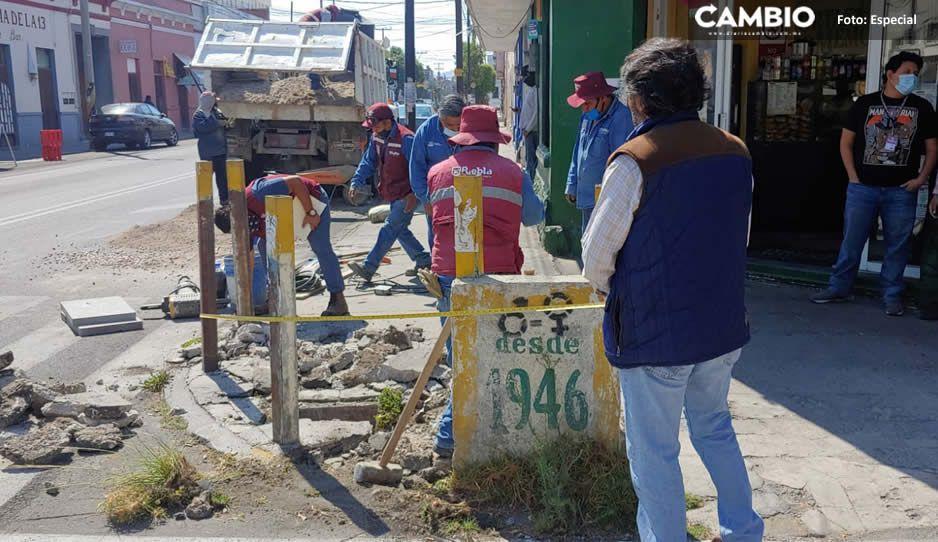 Reparan la ciclopista de la muerte para evitar que las acciones de Claudia sigan siendo burla nacional (VIDEO y FOTOS)