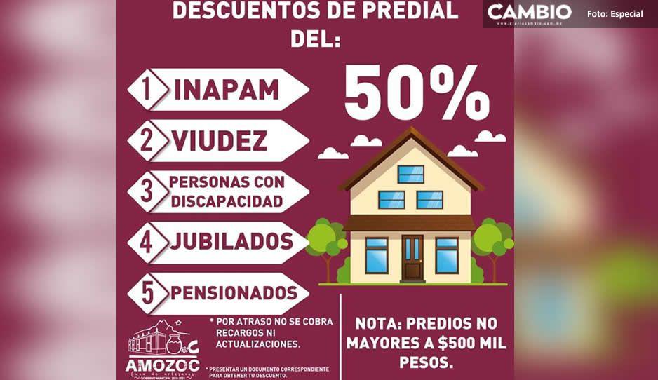 ¡Atención! Ayuntamiento De Amozoc emite descuentos para el pago de predial