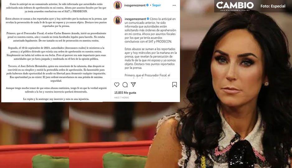 """Reaparece Inés Gómez Mont para defenderse: """"órdenes de aprehensión son sed de persecución"""""""